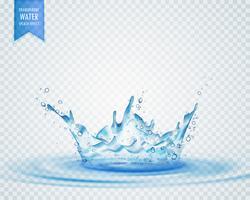 Efecto de salpicadura de agua aislada sobre fondo transparente
