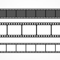 coleção de tiras de filmes vetoriais em tamanhos diferentes