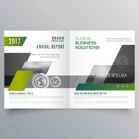 design de modelo de página de folheto de revista para sua marca
