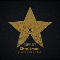 golden christmas tree design made with star