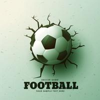 football hitting the wall with cracks background