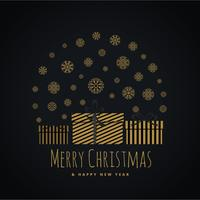 coffret cadeau recouvert de flocons de neige pour les voeux du festival de Noël