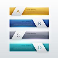 moderne vier Schritte Infografik Template-Design für Business Prese