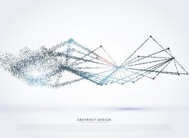 mesh wireframe con sfondo di particelle sbiadite