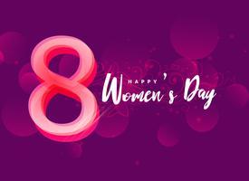 Fondo de diseño creativo del día internacional de la mujer feliz.