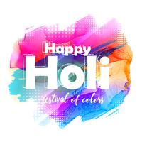 abstract happy holi greeting background
