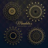 set of four manadala designs