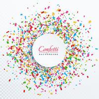 Fondo de confeti con diseño de espacio de texto