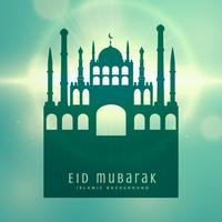 elegant muslim eid festival card design background