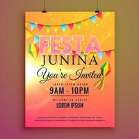 festa junina party invitation flyer design