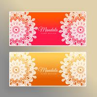 colorful mandala banners decoration background