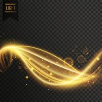 golden swirl transparent light effect vector