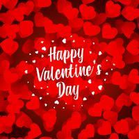 joyeuse Saint Valentin fond de beaux coeurs