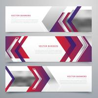 modernes Business Banner Design Set von drei