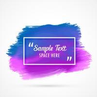 fundo de vetor de mancha azul aquarela roxa com espaço de texto