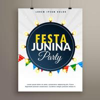 design de cartaz festa junina para festa evento