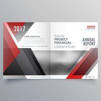 brochure mise en page de modèle de page de garde magazine en rouge et noir sh
