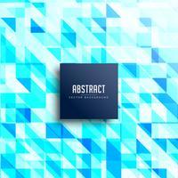 abstrakter blauer Dreieckmusterhintergrund