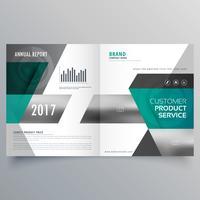 conception de modèle de couverture d'entreprise professionnelle pour le magazine