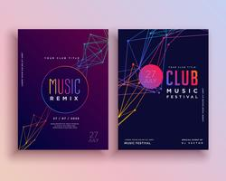 club music party flyer template design
