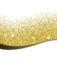 golden glitter background design vectir