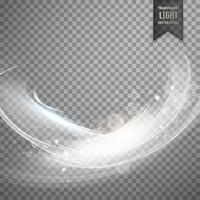Fondo de efecto de luz transparente blanco elegante