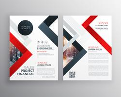 moderne Business-Broschüre Flyer Template-Design