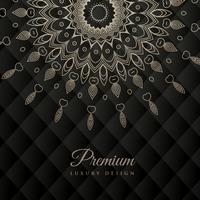 mandala design redondo ornamento padrão em fundo preto
