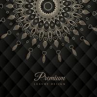 mandala design round ornament pattern on black background
