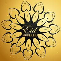 eid mubarak card with mandala design