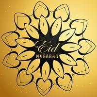 eid mubarak card con disegno di mandala