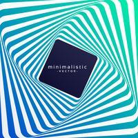 Fondo de vector minimalista colorido estilo retro con efecto 3d