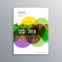 plantilla de folleto de negocios círculos abstractos