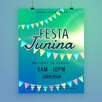 lateinamerikanisches festa junina festival poster flyer design templat