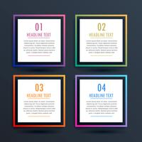 square options infographic design with four steps