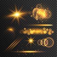 transparante lensflare en lichteffectencollectie