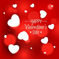 elegant red background with white hearts for valentines day