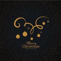 hängande julbollar på virveldekoration