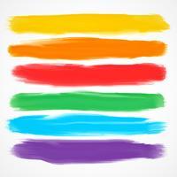 ensemble de six différents pinceaux d'aquarelle