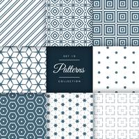 set astratto di pattern in stile geometrico