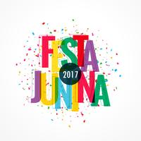 colorful 2017 festa junina celebration background