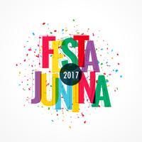 fond coloré de célébration 2017 festa junina