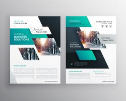 geometric business brochure flyer design vector template