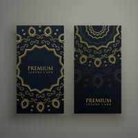 premium mandala decoration banners or card design vector