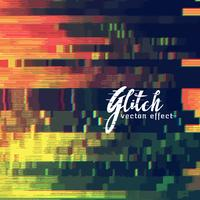 Glitch abstrait montrant un dysfonctionnement