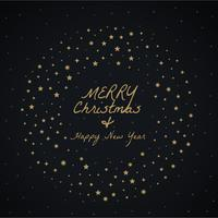 merry christmas greeting design made with stars decoration