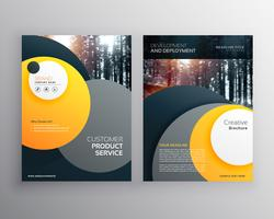 yellow business flyer brochure design a4 template with abstract