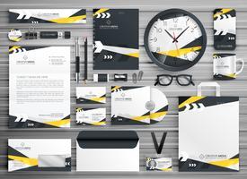 Identidad corporativa diseño de plantillas de papelería conjunto con abstracto