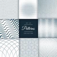 conjunto de ocho diferentes líneas patrón de fondo