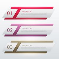 Plantilla de diseño infográfico para tres pasos.